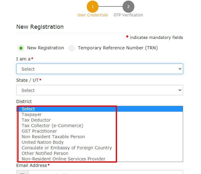 Gst registration process for partnership firm