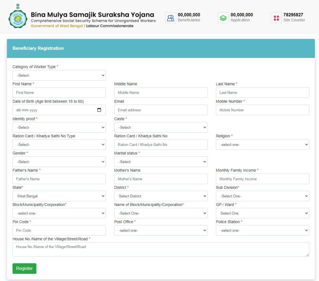 Bina Mulya Samajik Suraksha Yojana 2021 (बीना मूल्य सामाजिक सुरक्षा योजना)